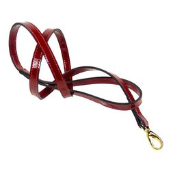 Hartman & Rose Holiday Crystal Red Dog Lead, 1/2-Inch, Red Patent