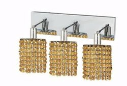 Elegant Lighting 1283W-O-R-LT/RC Mini 8-Inch High 3-Light Wall Sconce, Chrome Finish with Light Topaz (Yellow) Royal Cut RC Crystal