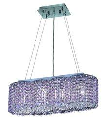 Elegant Lighting 1295D24C-RO/RC Moda 7-Inch High 4-Light Chandelier, Chrome Finish with Rosaline (Pink) Royal Cut RC Crystal