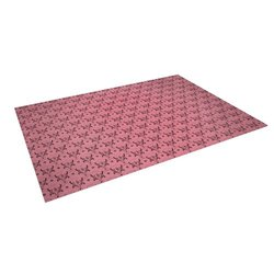 "Kess InHouse Louie Gong ""Pink Hummingbird Pattern"" Outdoor Floor Mat/Rug, 5 by 7-Feet"