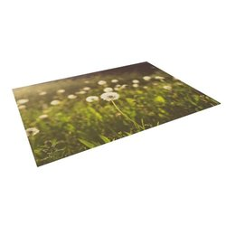 "Kess InHouse Libertad Leal ""As You Wish"" Dandelions Outdoor Floor Mat/Rug, 4 by 5-Feet"