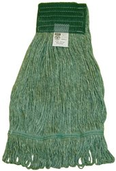 Zephyr 28331 Blendup Green 4-Ply Yarn Natural and Synthetic Fiber Blended Small Loop Mop Head (Pack of 12)