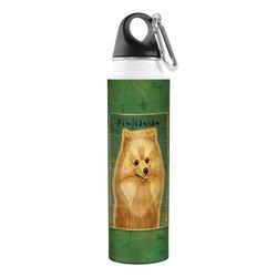 Tree-Free Greetings VB48025 John W. Golden Artful Traveler Stainless Steel Water Bottle, 18-Ounce, Pomeranian