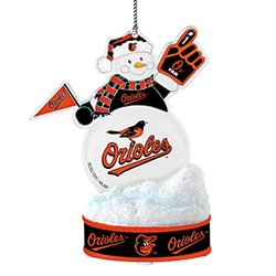 MLB Baltimore Orioles LED Snowman Ornament