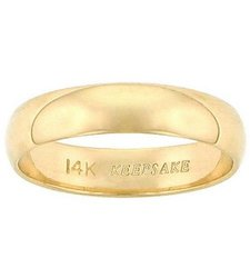 Keepsake 14KT Yellow Gold 4MM Wedding Band - Size: 8