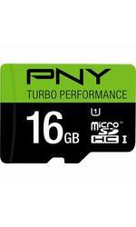 PNY Turbo Performance 16GB High Speed MicroSDHC Class 10 Flash Card