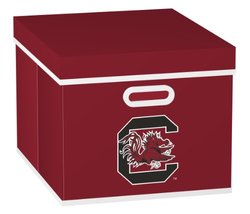 NCAA South Carolina Fighting Gamecocks Stackable Fabric Storage Cube, One Size, Red
