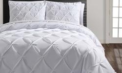 Victoria Classics Carmen 3 Piece Duvet Set - White - Size: King
