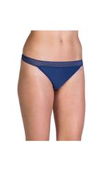 ExOfficio Women's Give-n-Go Lacy Low Rise Bikini Brief - Indigo - Size: Large
