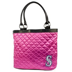 MLB Seattle Mariners Pink Quilted Tote