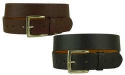 Royal Boudoir Solid Men's Basic Leather Dress Belts - 2-Pack - Size: 36