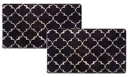 "J&V Textiles Cook N Comfort 20""x35"" Memory Foam Kitchen Mat- Trellis Black"