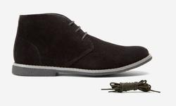 Oak & Rush Men's Chukka Boots - JR065B Black - Size: 12