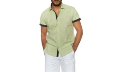 Suslo Couture Men's Button-Down Short-Sleeve Shirts - Jason White - Sz: XL