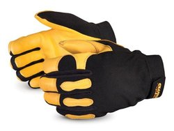 Clutch Gear Unisex Winter Lined Deerskin Mechanics Gloves - Black/Medium