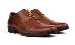Royal Men's Cap Toe Dress Shoes - Brown - Size: 8.5