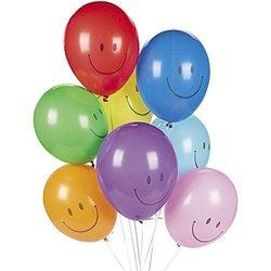 Fun Express 144-Pieces Smile Face Latex Balloons - Multi (17/1700)