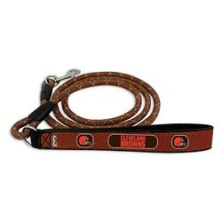 Game Wear NFL Cleveland Browns Football Leather Rope Leash - Brown - Sz: M