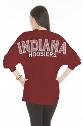 NCAA Women's Indiana Hoosiers Jade Long Sleeve Jersey - Crimson - Sz: X-S