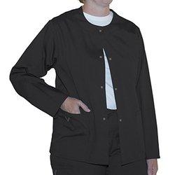 myGuardian with Vestex Protection Unisex Warm Up Scrub Jacket - Black -3XL
