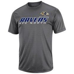 NFL Men's Baltimore Ravens Short Yardage IV Synthetic Tees - Storm Gray- S