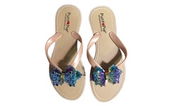 Puntapie Women's Tony 3 Embellished Sandals - Natural - Size: 5