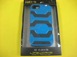 Lifeworks The Gladiator Case For Apple Iphone 5/5s - Blue And Black