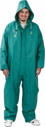 Onguard Unisex PVC/Nylon/Polyester Chemtex Coverall - Green - Size: XL