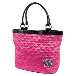 NCAA Washington, Pink Quilted Tote