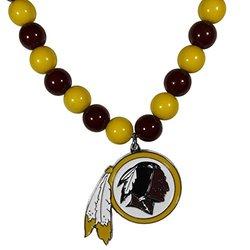 Nfl Fan Bead Necklace: Washington