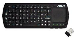 FAVI SmartStick Wireless Keyboard with Touchpad Mouse, FE02RF-BL Black
