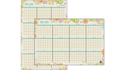 2015 - 2016 Garden Party Academic Erasable Wall Calendar