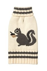 "Fab Dog Americana Classics Knit Dog Sweater - Cream Squirrel - 10"""