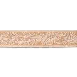 """Tandy Leather Western Floral Embossed Belt - Blank - Size: 1-1/2""""x 42"""""""