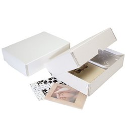 Lineco Greeting Card Storage Box Pure White