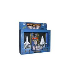 Hot Wings Planes & Astronauts Space Play Set - White