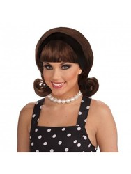 Forum Novelties Women's Flirting 50's Flip Wig - Brown - One Size