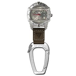 Dakota Watches 3061 Phase III Clip Watch Silver