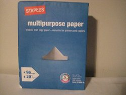 Staples Copy Fax Laser Inkjet Printer Paper - 6 Pack - 500 Sheets/Pack