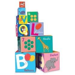 eeBoo Toddler Alphabet Building Blocks Tower