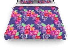 KESS InHouse ''Beautifully Boho'' Duvet Cover - Purple - Size: Queen