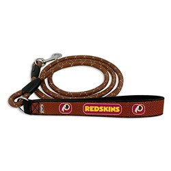 NFL Washington Redskins Football Leather Rope Leash, Medium, Brown