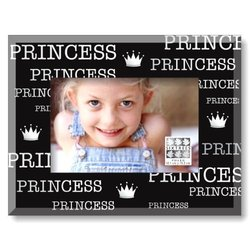 Sixtrees Princess Black Glass Expression Frame, 4 by 6-Inch