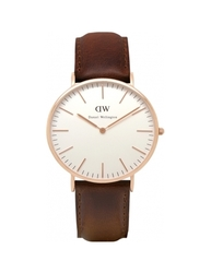 Daniel Wellington Men's Classic Bristol Leather Strap Watch - Brown