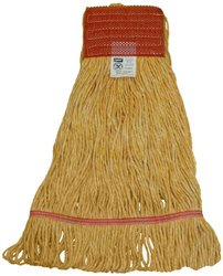 Zephyr 28321 Blendup Orange 4-Ply Yarn Natural and Synthetic Fiber Blended Small Loop Mop Head (Pack of 12)