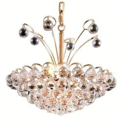 Elegant Lighting 2001D18G/RC Godiva 17-Inch High 8-Light Chandelier, Gold Finish with Crystal (Clear) Royal Cut RC Crystal