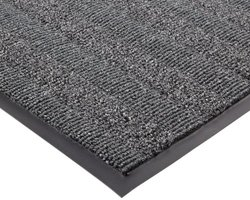 "Notrax Vinyl 139 Boulevard Entrance Mat, for Upscale Entrances, 3' Width x 6' Length x 3/8"" Thickness, Charcoal"