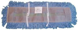 "Zephyr 23036 Blue Blended Yarn Disposable Dust Mop Head, 36"" Length x 5"" Width (Pack of 6)"