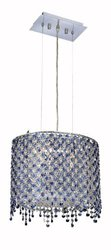 Elegant Lighting 1392D14C-SA/RC Moda 13.5-Inch High 2-Light Chandelier, Chrome Finish with Sapphire (Blue) Royal Cut RC Crystal
