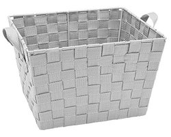 Kennedy Home Collection Woven Strap Storage Tote - Heather Gray